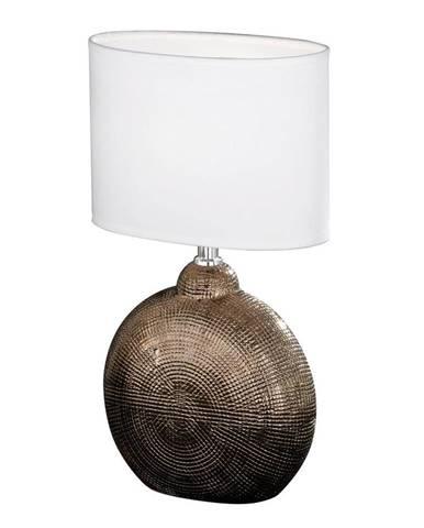 STOLNÍ LAMPA, E14, 23/13/36 cm - bílá, měděné barvy