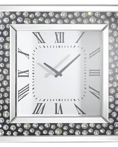 Xora NÁSTĚNNÉ HODINY, černá, barvy stříbra, 50/50/5 cm - černá, barvy stříbra