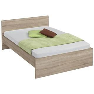 Carryhome POSTEL, 140/200 cm, kompozitní dřevo, Sonoma dub - Sonoma dub
