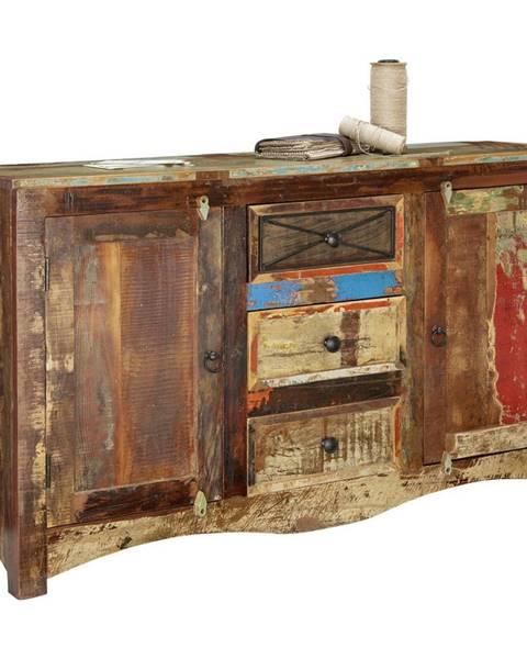 Ambia Home Ambia Home KOMODA, recyklované dřevo, vícebarevná, 150/85/40 cm - vícebarevná