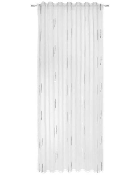 Esposa Esposa HOTOVÝ ZÁVĚS, průhledné, 135/245 cm - šedá, bílá