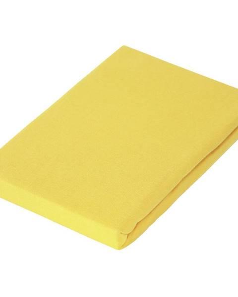 Novel Novel PROSTĚRADLO NAPÍNACÍ, žerzej, žlutá, 100/200 cm - žlutá