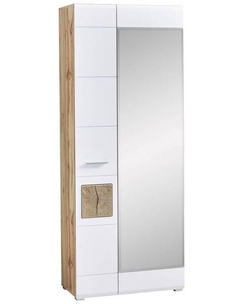 Voleo Voleo ŠATNÍ SKŘÍŇ, bílá, barvy dubu, 80/201/37 cm - bílá, barvy dubu
