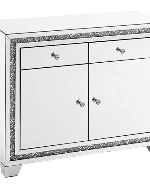 Xora Xora KOMODA, barvy stříbra, 100/80/40 cm - barvy stříbra