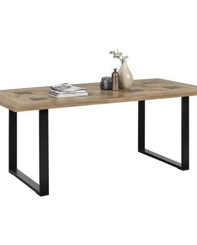 Ambia Home JÍDELNÍ STŮL, masivní, mangové dřevo, přírodní barvy, černá, 200/100/76 cm - přírodní barvy, černá