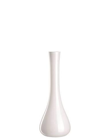 Leonardo VÁZA, sklo, 40 cm - bílá