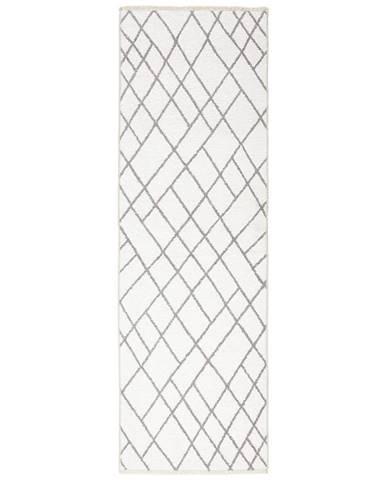 Novel KOBEREC TKANÝ NA PLOCHO, 80/250 cm, šedá, bílá - šedá, bílá