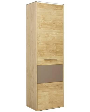 Novel ŠATNÍ SKŘÍŇ, šedá, barvy dubu, divoký dub, 61/200/40 cm - šedá, barvy dubu