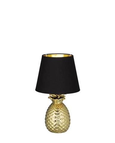 STOLNÍ LAMPA, E14, 20/35 cm - černá, barvy zlata