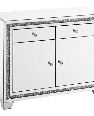 Xora KOMODA, barvy stříbra, 100/80/40 cm - barvy stříbra