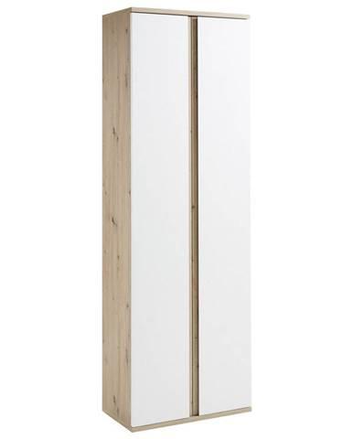 Xora ŠATNÍ SKŘÍŇ, bílá, barvy dubu, 65/199/36 cm - bílá, barvy dubu
