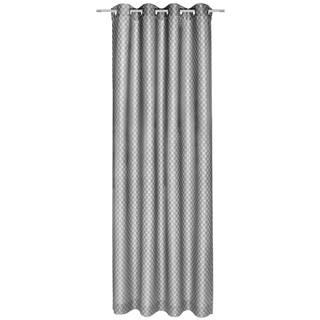 Joop! ZÁVĚS S KROUŽKY, neprůsvitné, 140/250 cm - barvy stříbra, světle šedá