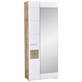 Voleo ŠATNÍ SKŘÍŇ, bílá, barvy dubu, 80/201/37 cm - bílá, barvy dubu
