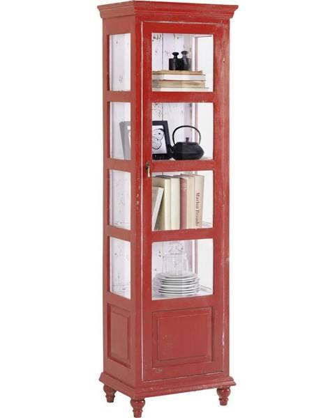 Ambia Home Ambia Home VITRÍNA, červená, 48/164/33 cm - červená