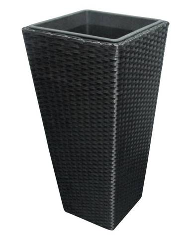 Ambia Garden KVĚTINÁČ, kov, plast, 36/70/36 cm - černá
