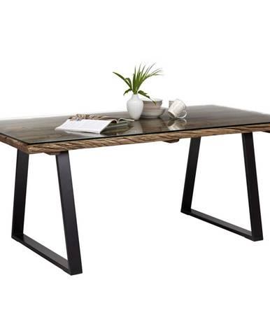 Ambia Home JÍDELNÍ STŮL, masivní, recyklované dřevo, přírodní barvy, černá, 190/95/76 cm - přírodní barvy, černá