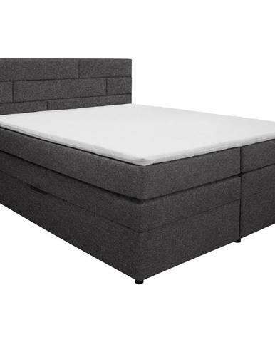 Carryhome POSTEL BOXSPRING, 160/200 cm, textil, tmavě šedá - tmavě šedá