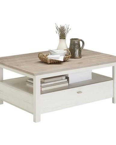 Hom`in KONFERENČNÍ STOLEK, šedá, bílá, kompozitní dřevo, 110/80/45 cm - šedá, bílá