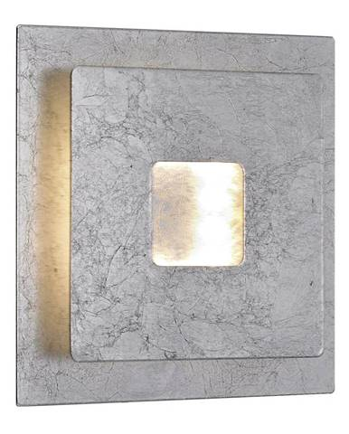 NÁSTĚNNÉ LED SVÍTIDLO, 18/6,5/18 cm - barvy stříbra