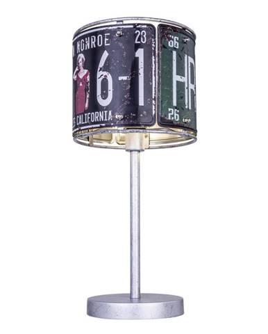 STOLNÍ LAMPA, E14, 20/43 cm - vícebarevná
