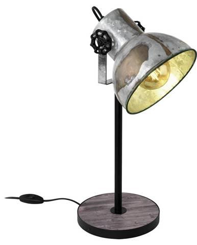 STOLNÍ LAMPA, E27, 17,5/40 cm - hnědá, černá, barvy zinku