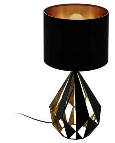STOLNÍ LAMPA, E27, 25/51 cm - černá, měděné barvy