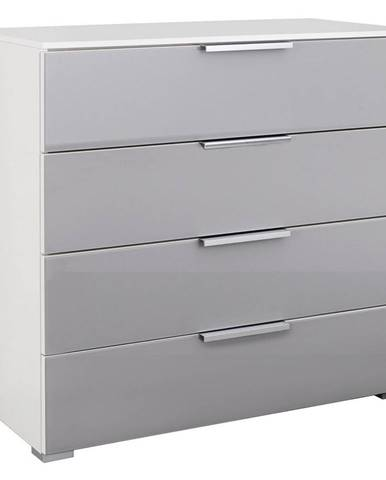 Xora KOMODA, šedá, bílá, 80/81/42 cm - šedá, bílá
