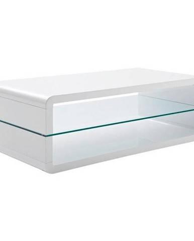 Xora KONFERENČNÍ STOLEK, bílá, sklo, kompozitní dřevo, 120/60/40 cm - bílá
