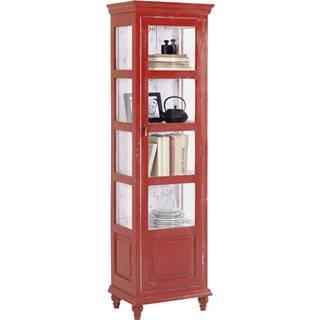 Ambia Home VITRÍNA, červená, 48/164/33 cm - červená