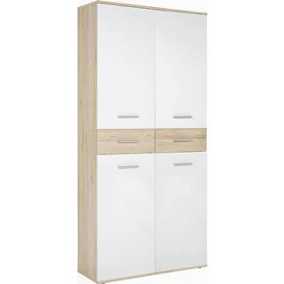 Xora BOTNÍK, bílá, barvy dubu, 90/195/35 cm - bílá, barvy dubu
