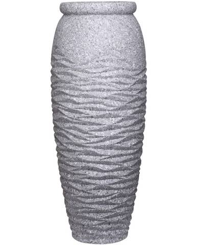 Ambia Home KVĚTINÁČ, kámen, 34/70 cm - šedá