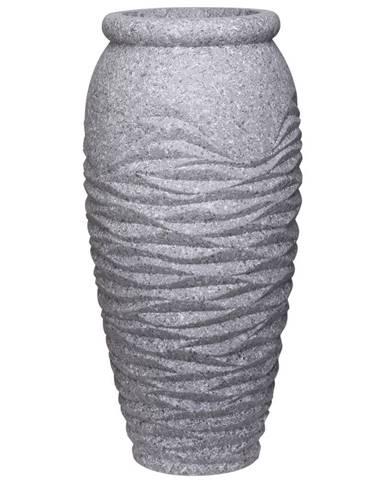Ambia Home KVĚTINÁČ, kámen, 37/90 cm - šedá