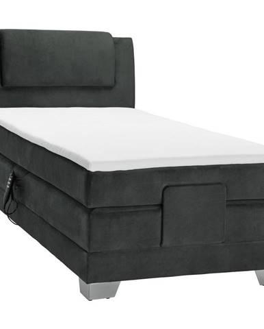 Esposa POSTEL BOXSPRING, 100/200 cm, textil, černá - černá