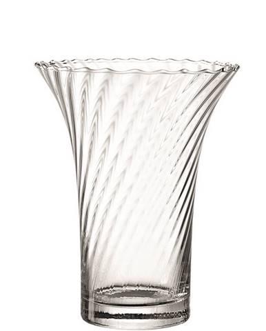 Leonardo VÁZA, sklo, 22 cm - průhledné