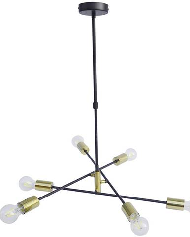 Marama ZÁVĚSNÉ SVÍTIDLO, E27/10 W, 69/69/67,5 cm - černá, barvy zlata
