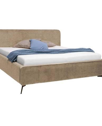 Moderano ČALOUNĚNÁ POSTEL, 180/200 cm, textil, kompozitní dřevo, béžová - béžová