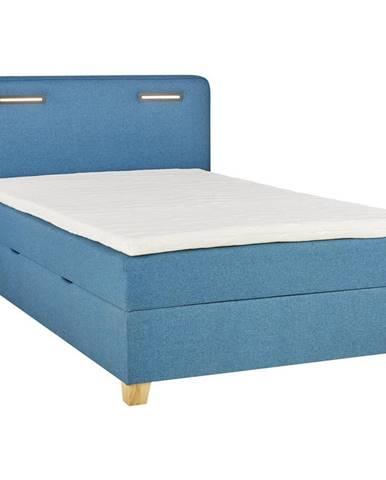 Moderano POSTEL BOX, 120/200 cm, textil, kompozitní dřevo, tyrkysová - tyrkysová