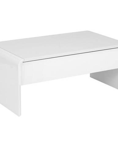 Xora KONFERENČNÍ STOLEK, bílá, sklo, kompozitní dřevo, 110/60/45-71 cm - bílá