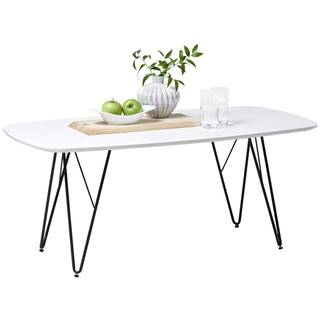 Carryhome KONFERENČNÍ STOLEK, černá, bílá, kov, kompozitní dřevo, 110/60/46 cm - černá, bílá