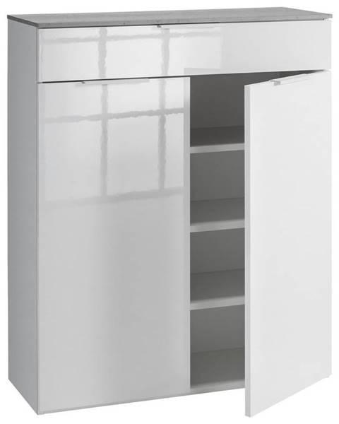 Xora Xora BOTNÍK, antracitová, bílá, 90/108/35 cm - antracitová, bílá