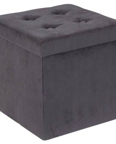 Carryhome SEDACÍ BOX, textil, kompozitní dřevo, 38/38/38 cm - antracitová