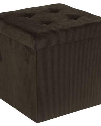 Carryhome SEDACÍ BOX, textil, kompozitní dřevo, 38/38/38 cm - hnědá, olivově zelená