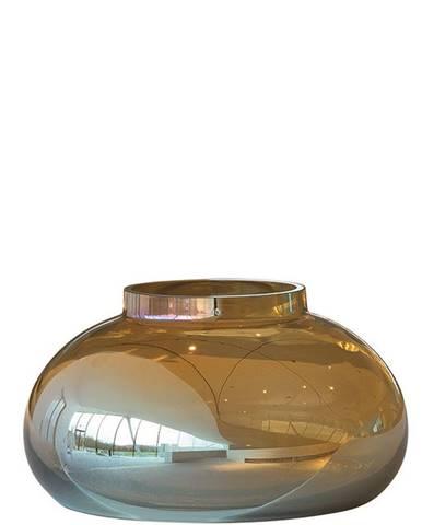 Leonardo VÁZA, sklo, 14 cm - barvy zlata