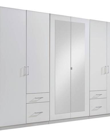 MID.YOU ŠATNÍ SKŘÍŇ, bílá, 270/210/58 cm - bílá