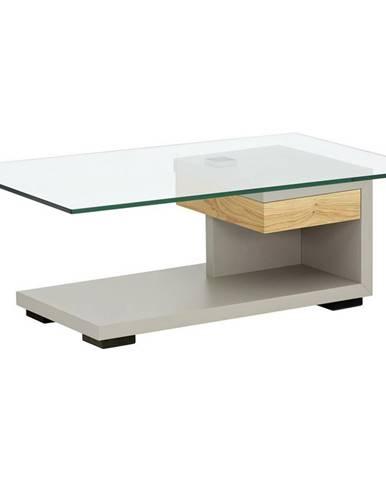 Moderano KONFERENČNÍ STOLEK, barvy dubu, fango, dřevo, sklo, kompozitní dřevo, 110/65/40 cm - barvy dubu, fango