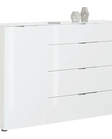 Novel VYSOKÁ KOMODA, bílá, 136/100/40 cm - bílá