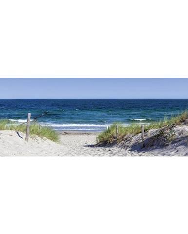 OBRAZ SKLENĚNÝ, pláž & moře, 98/33/1,4 cm - vícebarevná
