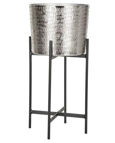 Ambia Home KVĚTINÁČ, kov, 18,5/40 cm - černá, barvy stříbra