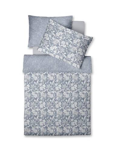 Fleuresse POVLEČENÍ, makosatén, modrá, bílá, 140/200 cm - modrá, bílá