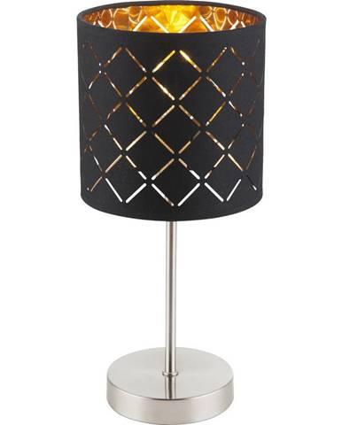STOLNÍ LAMPA, E14, 15/35 cm - černá, barvy zlata